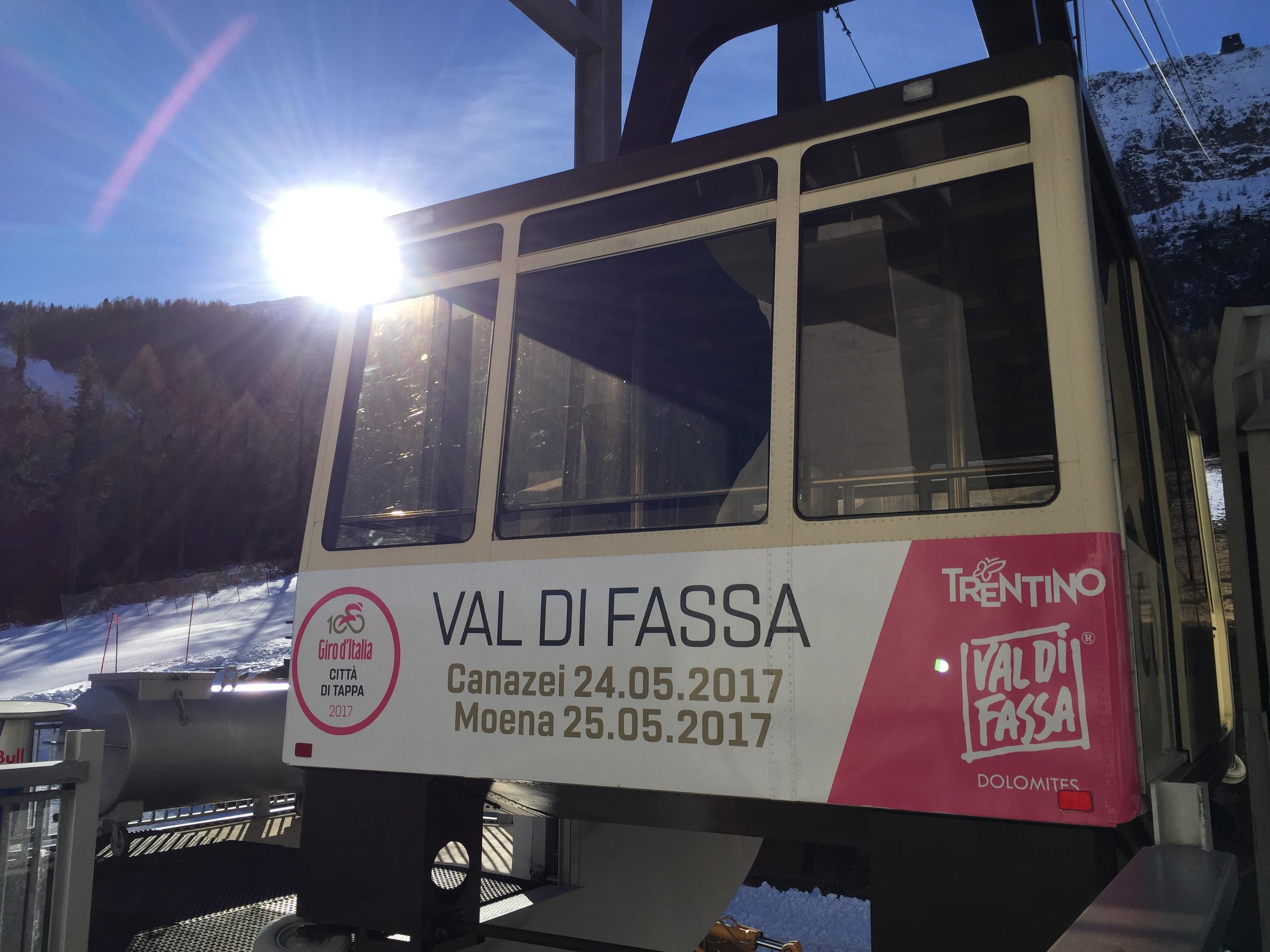 Allestimento cabinovie per Giro d'Italia