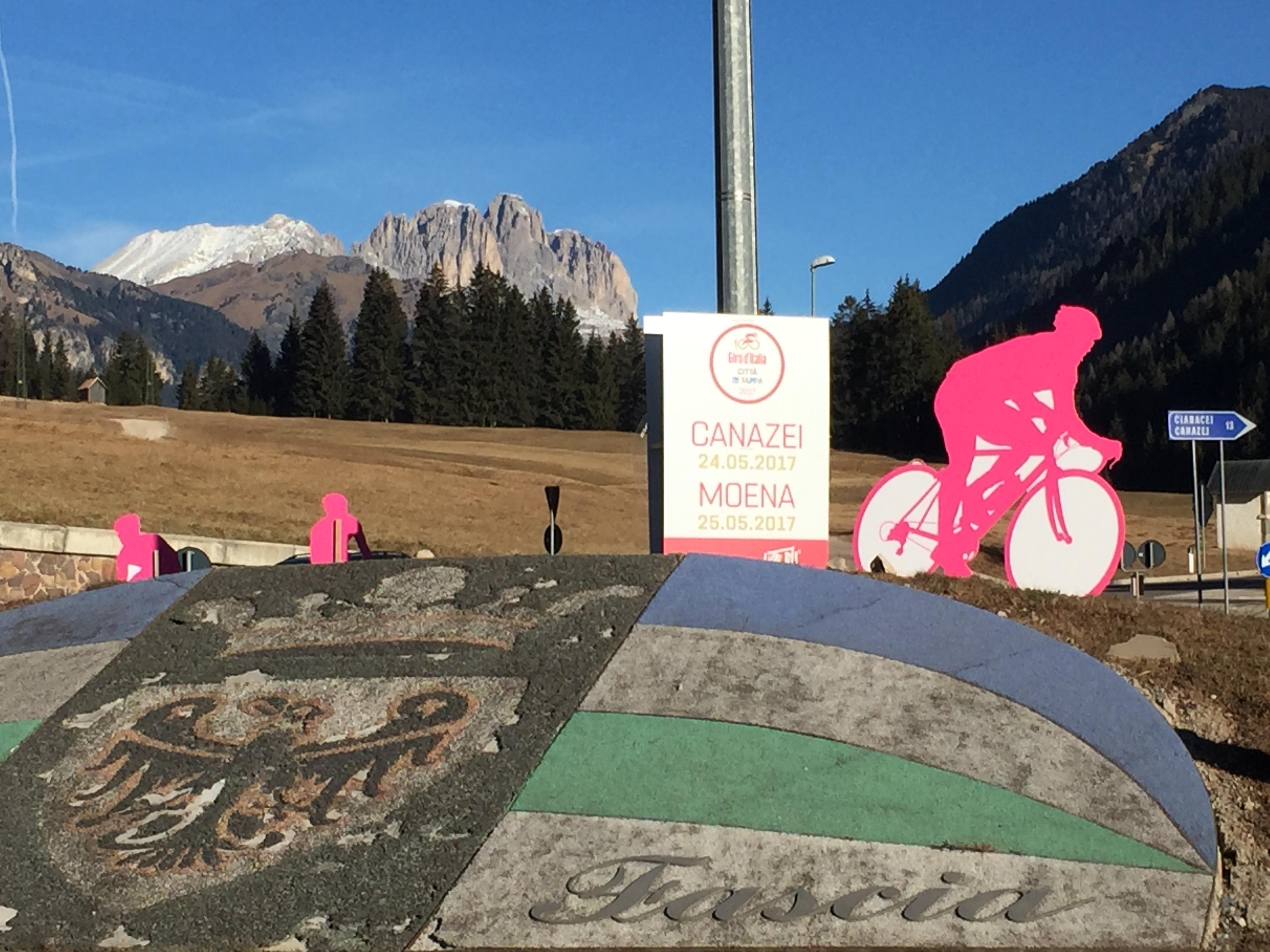 Allestimento circonvallazioni in Val di Fassa