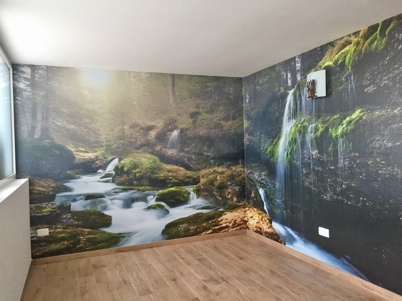 Allestimento adesivo – Centro benessere Hotel Malga Passerella, Moena