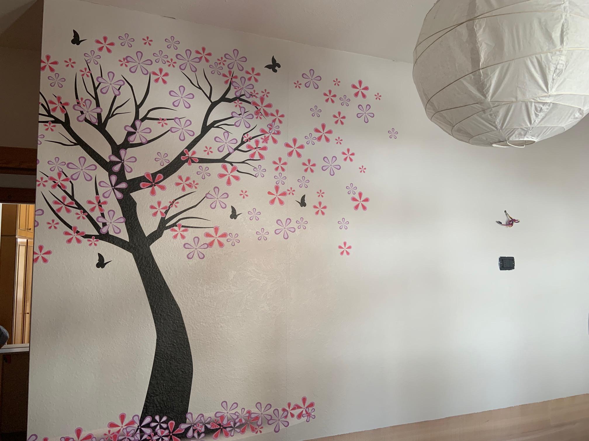 Adesivo effetto stucco – Casa privata, Moena